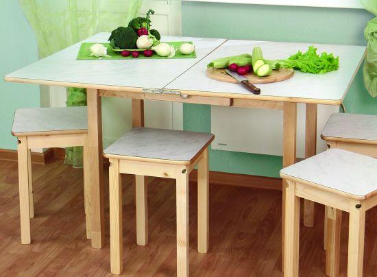 Стол обеденный раскладной с ящиком