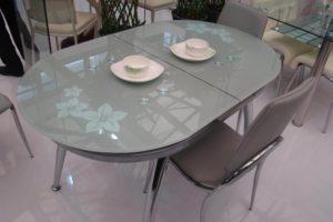 Стол обеденный раскладной стеклянный