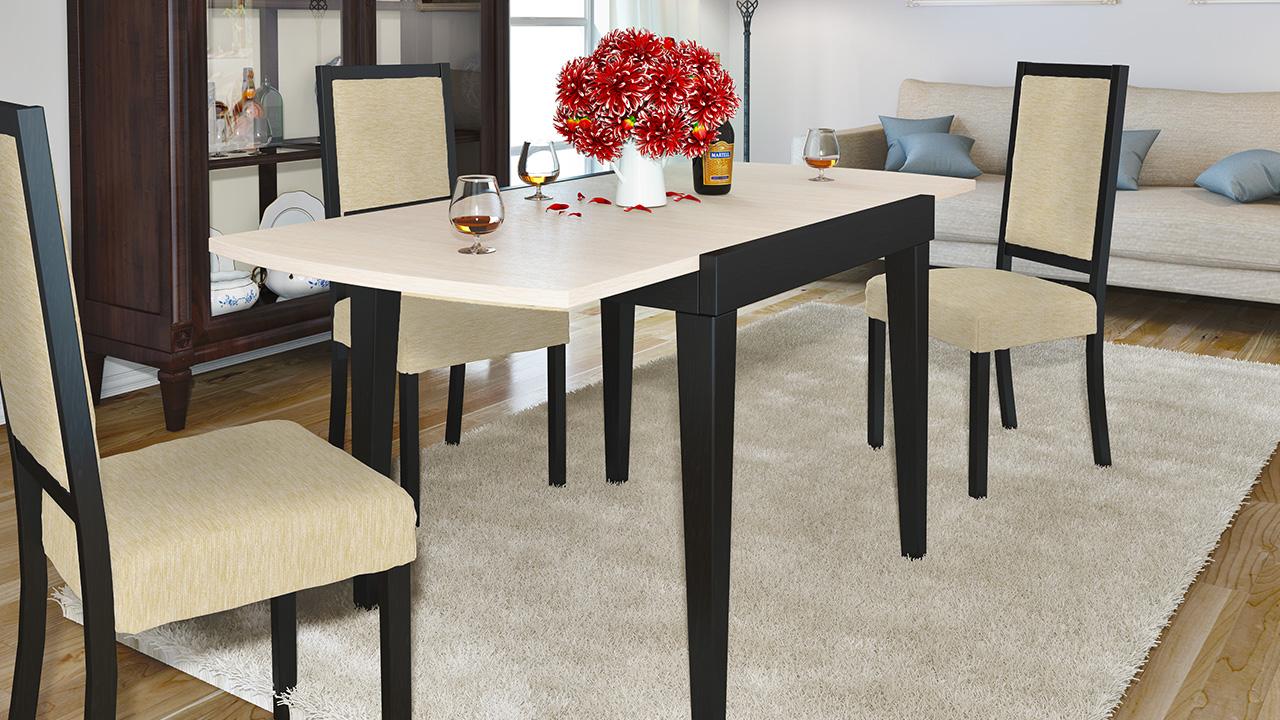Раздвижные обеденные столы, обзор моделей