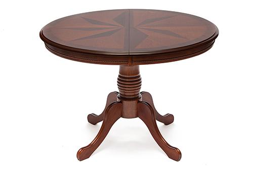 Стол обеденный в коричневом цвете