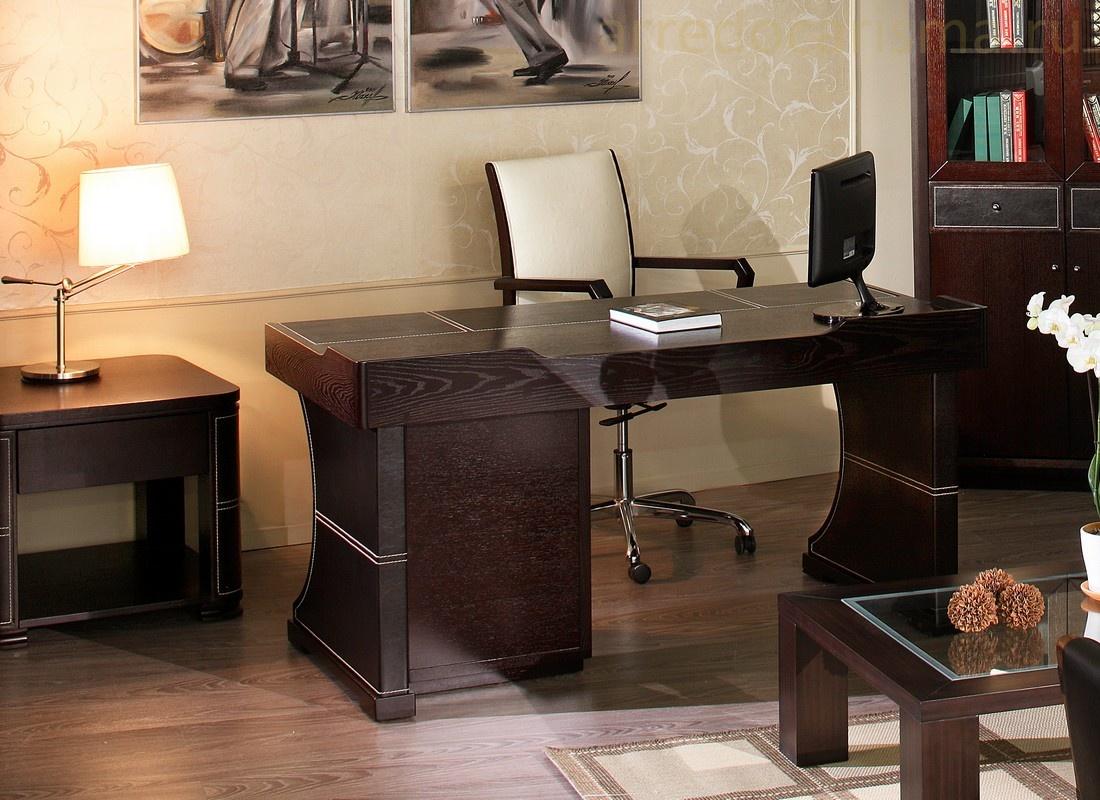 Стол письменный из массива дерева, обзор моделей по назначению