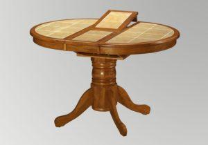 Стол раскладной с плиткой на столешнице