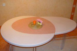 Стол раздвижной искусственный камень