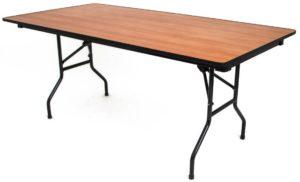 Стол складной прямоугольный с металлическими ножками
