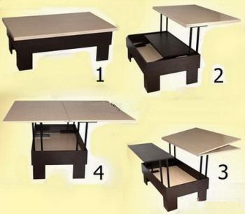 Стол со вставками