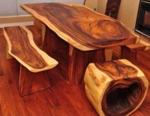 Столы из цельного дерева