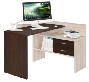 Светло-темный компьютерный стол