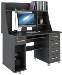 Темный компьютерный стол