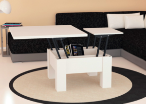 Удобство белого раскладного стола
