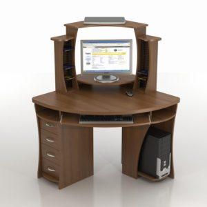 Угловой компьютерно-письменный стол