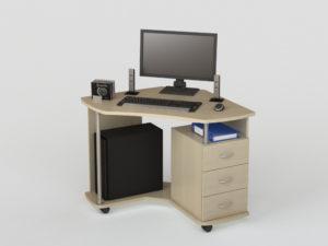 Угловой компьютерный малогабаритный стол