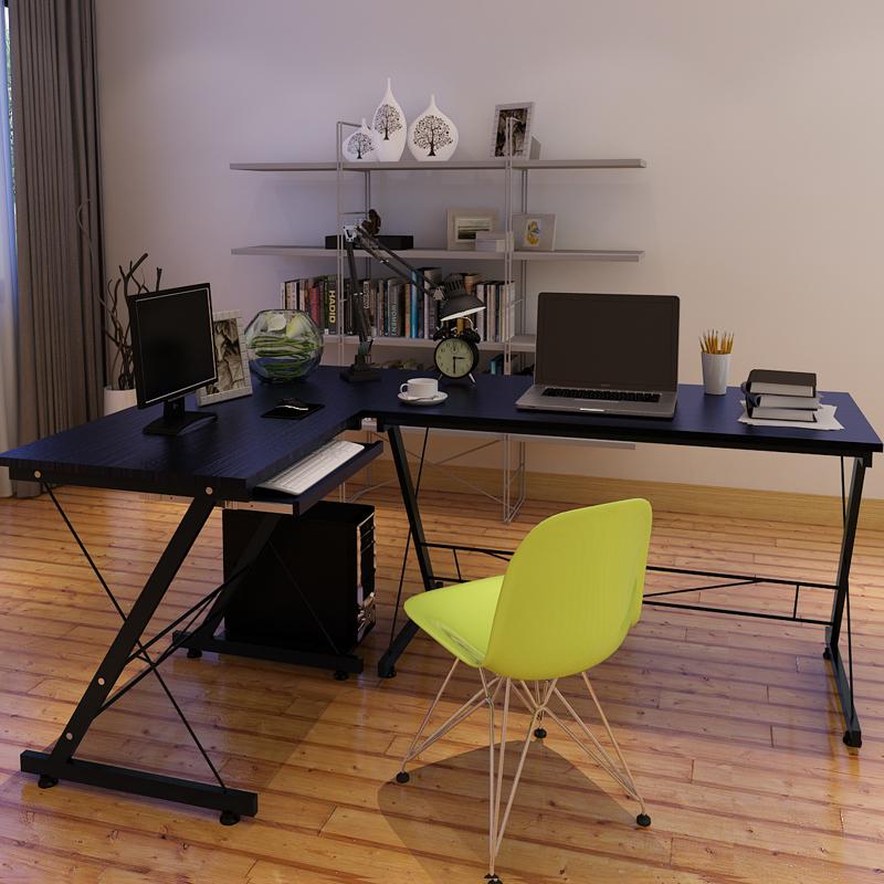 Угловой компьютерный стол минималистский