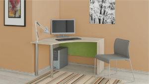 Угловой письменный стол в интерьере