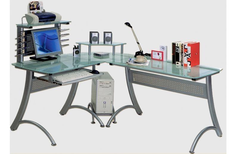 Угловой стол металлический