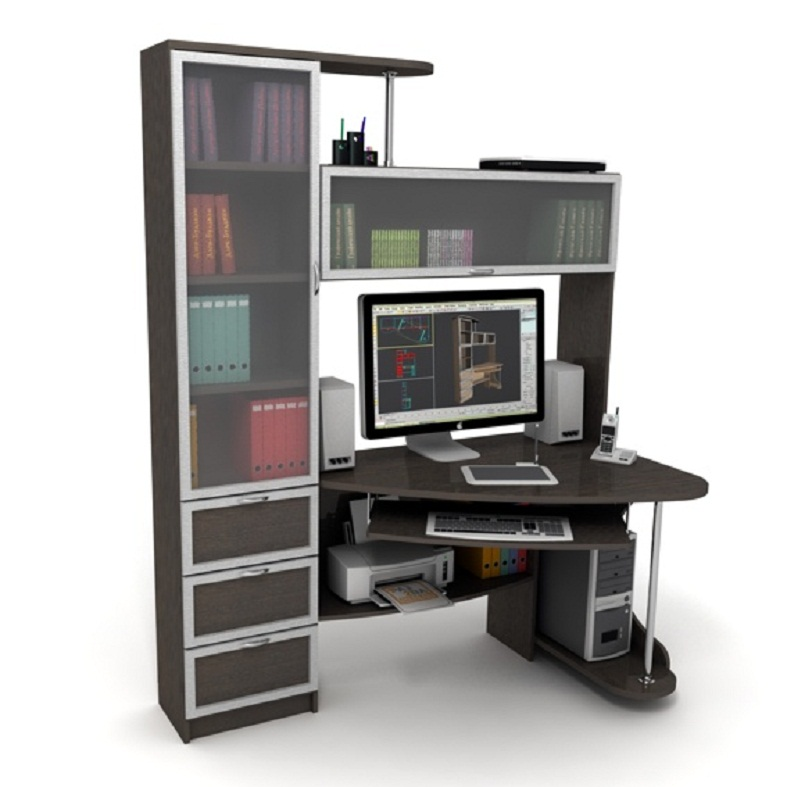 фото компьютерный угловой стол