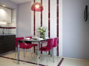 В зависимости от размеров вашей кухни, подбирается стол и стулья