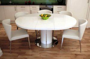 Виды обеденных столов для кухни