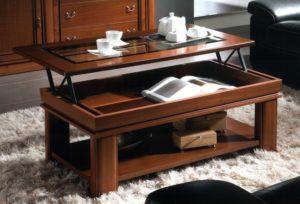 Выдвигающийся стол трансформер для гостиной