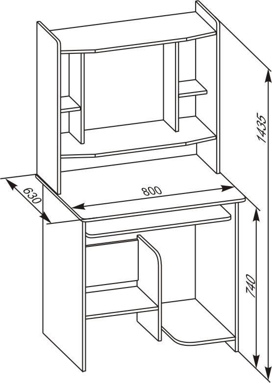 Высота стола с надстройкой