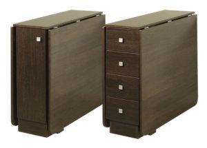 Стол, оборудованный ящиками
