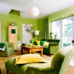 Единение с природой: как использовать зеленый цвет в интерьере