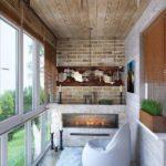 Эффектное оформление небольшого балкона