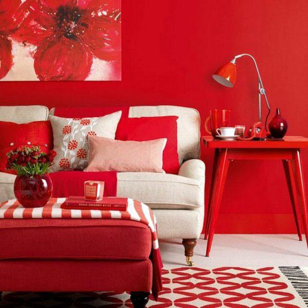Красный оттенок интерьера – экстравагантный дизаин