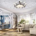 Интерьер гостиной в античном стиле