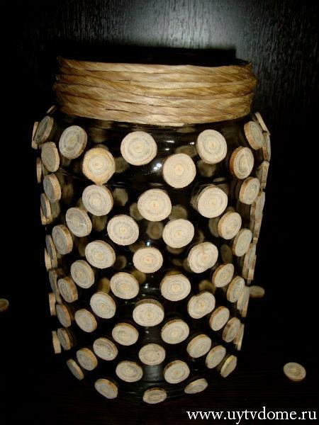 Необычная ваза из спилов дерева (пошаговый мастер класс)