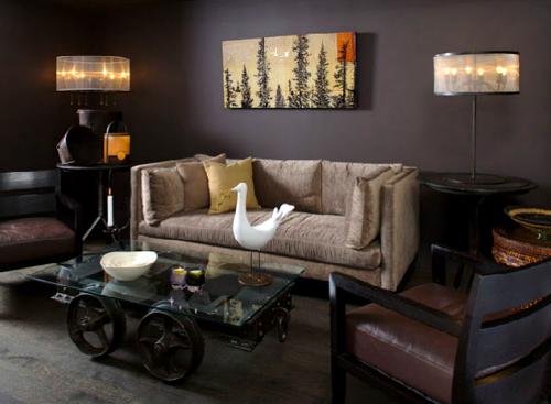 Гостиная в стиле Шале – уютный стиль найден!