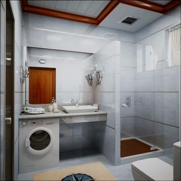 Душевая кабина в маленькой ванной комнате: лучшие формы, идеи и типы установки