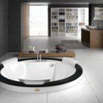 Круглая ванна (42 фото): неотъемлемая часть шикарного интерьера