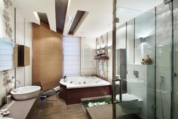 Современная ванная комната (50 фото) – царство высоких технологий на небольшой площади