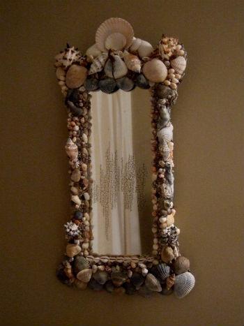 Зеркало с ракушками или зеркало в морском стиле (40 фото)!