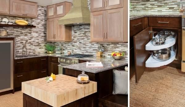 Угловые кухни (фото 2016)— новинки вдизайне кухонь