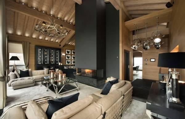 Уютный стиль шале винтерьере домов иквартир