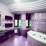 Фиолетовая ванная комната (42 фото): «магический» интерьер