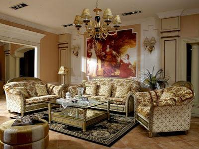 Гостиная в Итальянском стиле, как представитель роскоши