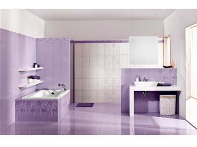 Сиреневая ванная комната (41 фото): необычное оформление