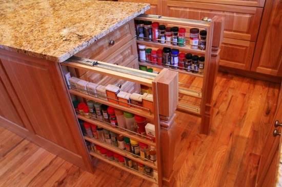 12 удобных скрытых отделений для кухни
