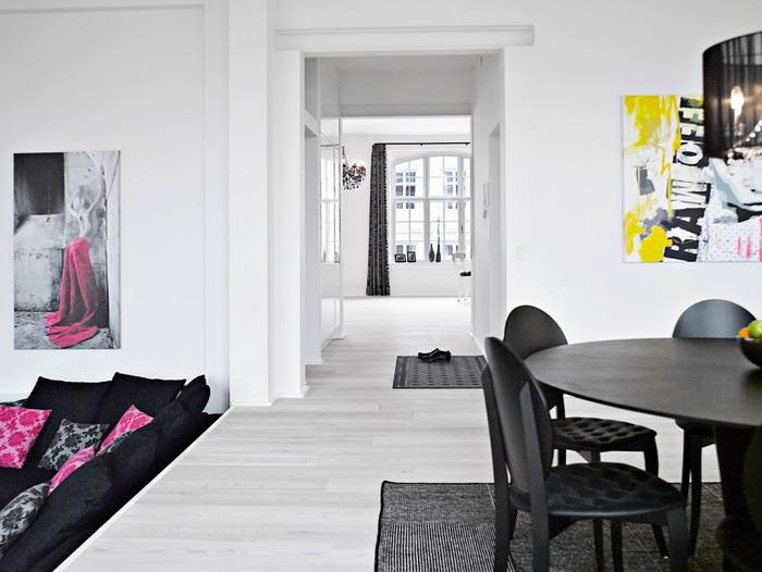 Чёрный и белый цвет в интерьере квартиры /Фотогалерея