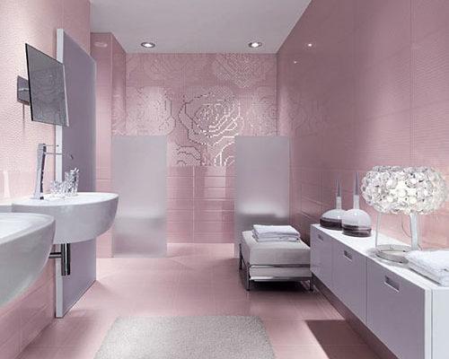 Розовая ванная комната дизайн купить немецкий смеситель для ванны в спб