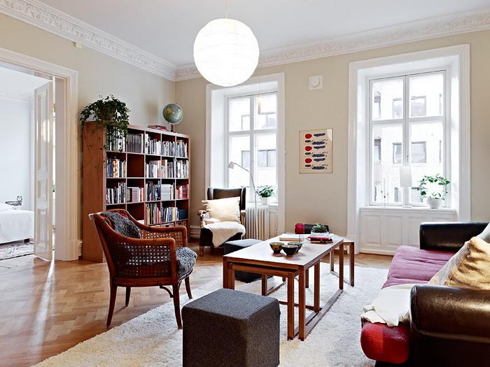 Шведский интерьер ещё одной квартиры /Фотогалерея