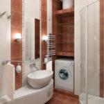 Дизайн ванной комнаты маленького размера с душевой кабиной (42 фото) – новые идеи