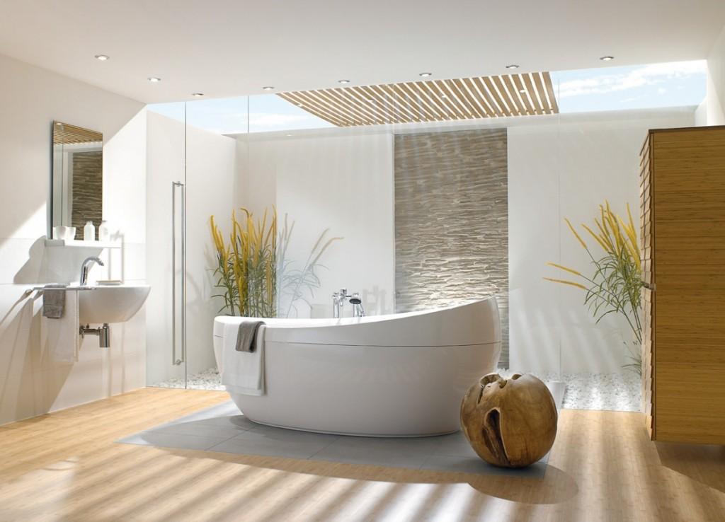 Отдельностоящая ванна (38 фото): интересная деталь интерьера