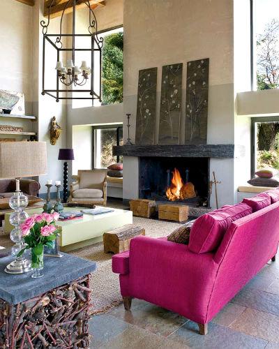 10 идей яркого дизайна интерьера дачи или красочный интерьер дачного дома