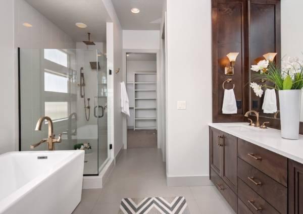 Современный дизайн ванной комнаты— идеи ифото 2016