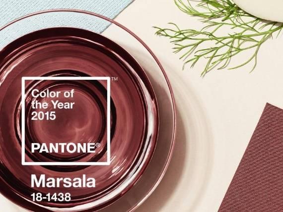 Официальный цвет 2015 года— марсала винтерьере