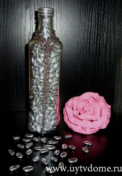 Мастер-класс: декоративная бутылка или декор бутылки!