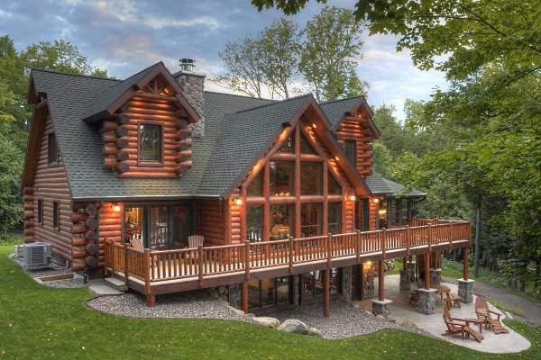 Современные дома из дерева